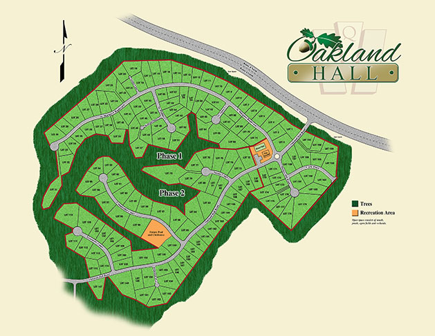 Oakland Hall Lot Maps for this Prince Frederick MD new home community