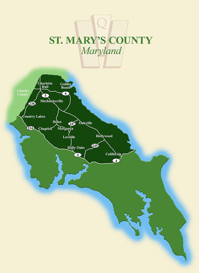 St. Mary's County, MD map
